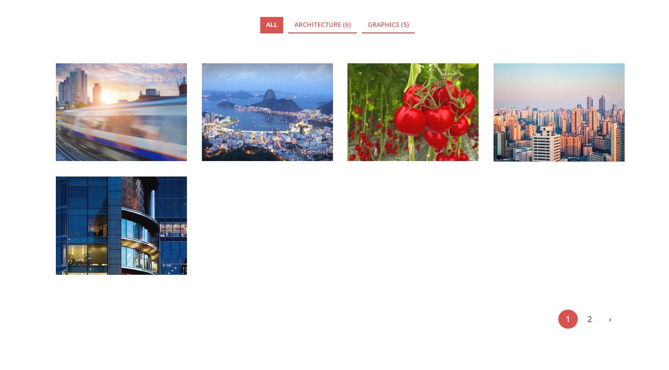 Four Column Portfolio Page.