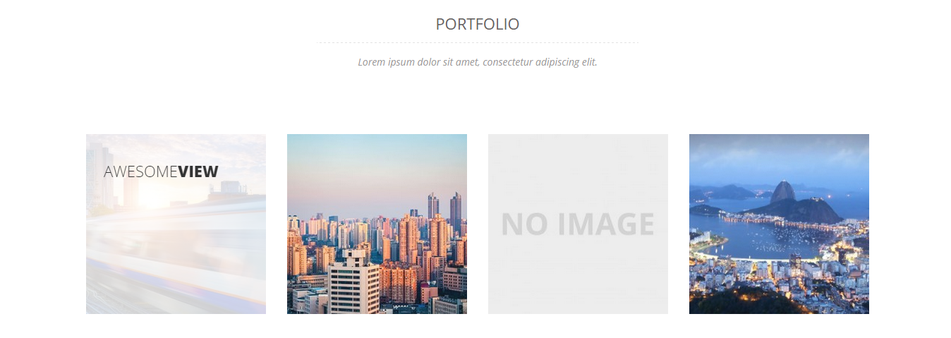 Portfolio Section Generated From Shortcode.