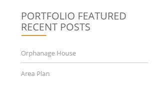 Portfolio Featured Recent Posts Widget.