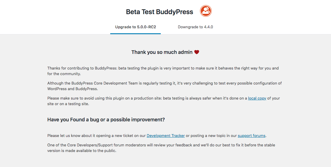 <strong>BP Beta Tester Admin Page</strong>