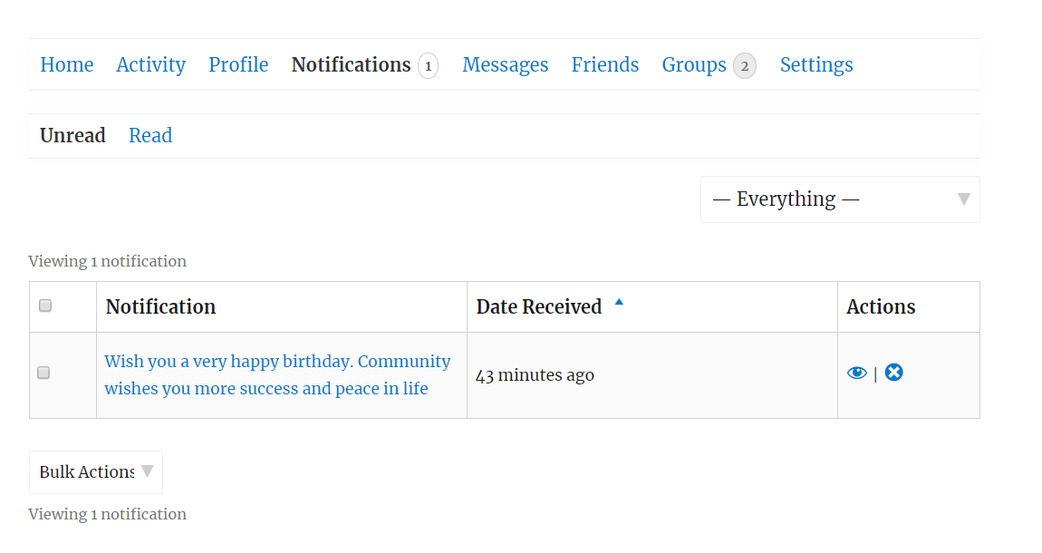 <p>Birthday Greeting Notification</p>