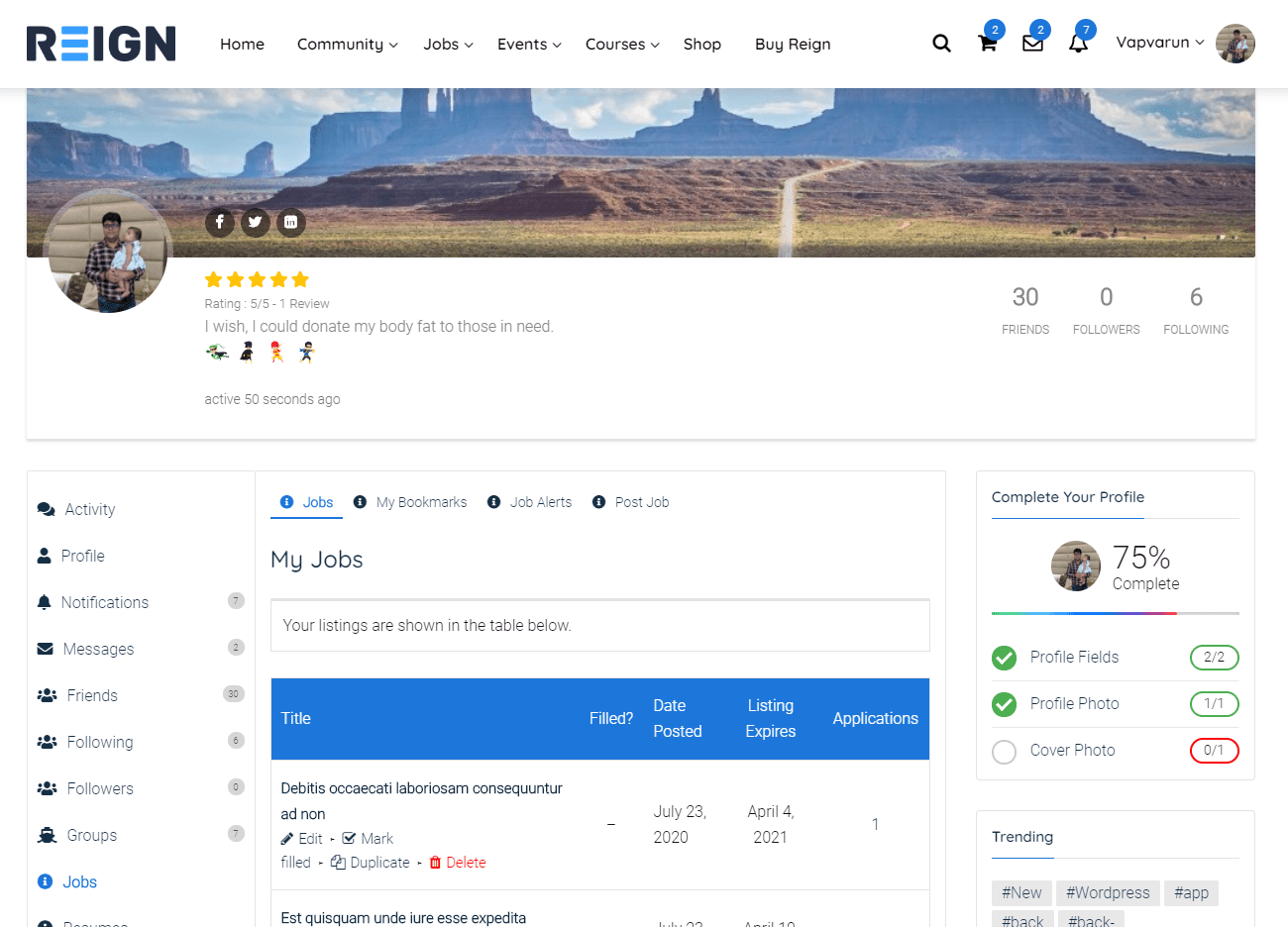 BuddyPress Job Manager WordPress Plugins