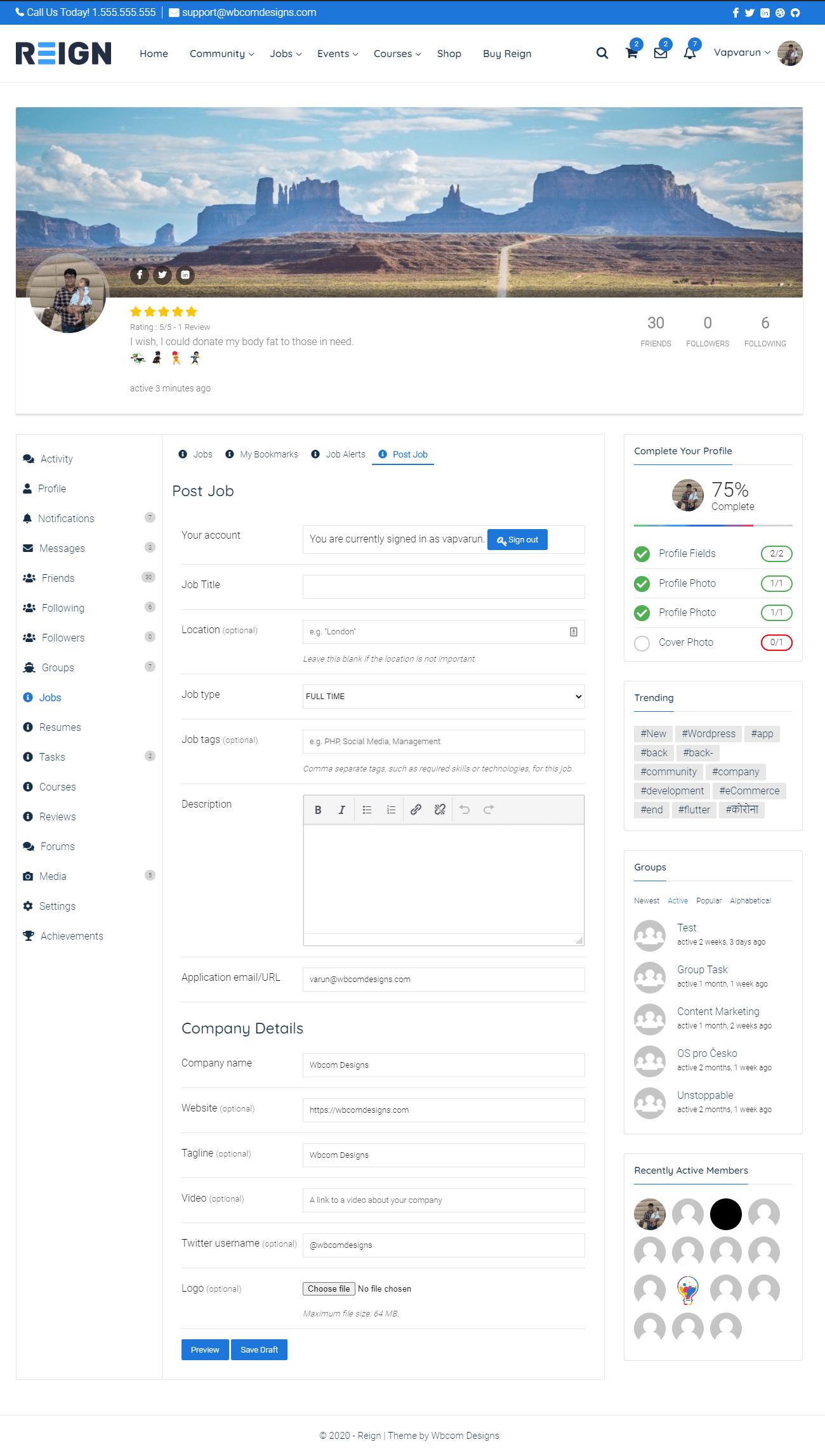 BuddyPress Job Manager — WordPress Plugins