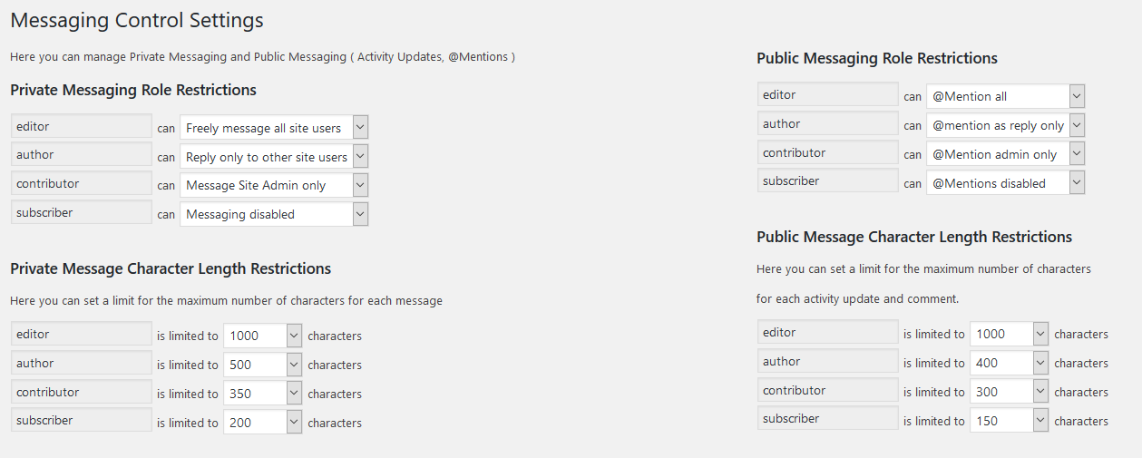 screenshot-1.png - Plugin Settings page.