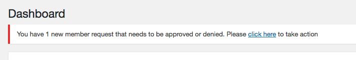 Admin Dashboard Alert:
