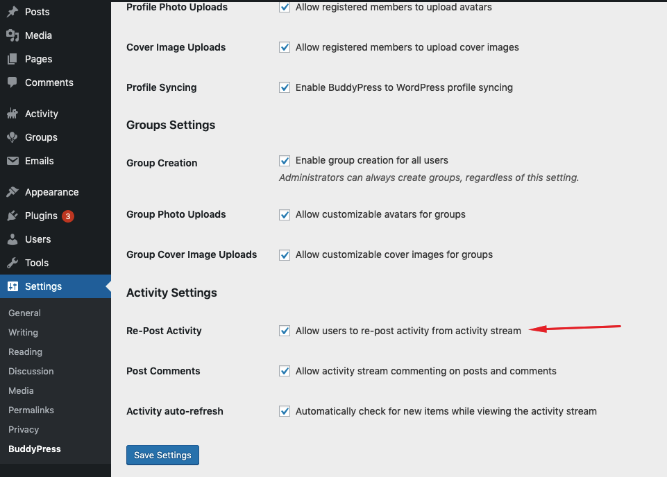 Enable/Disable re-post functionality screenshot-3.