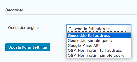 Changing Geocoder Engine