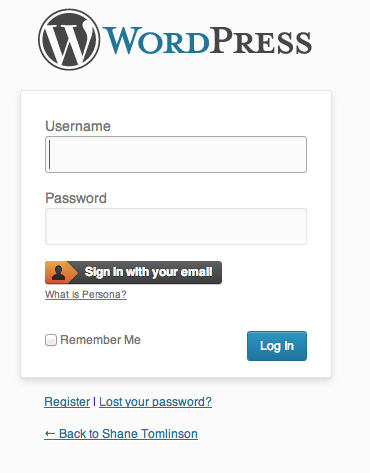 WordPress login with Persona