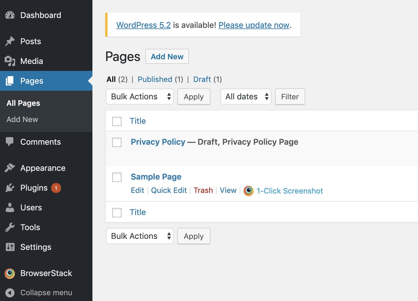 BrowserStack for WordPress