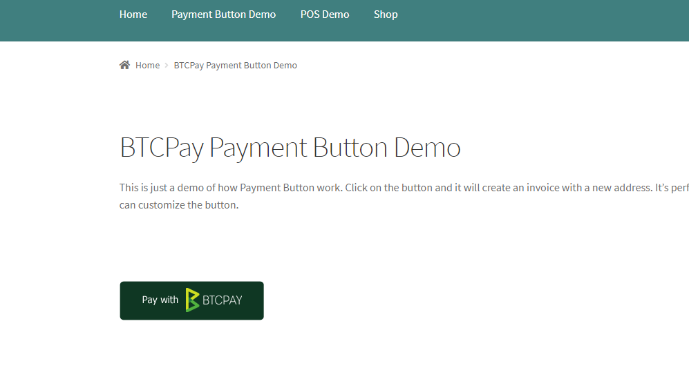 Example of an easy-embeddable HTML donation payment button.
