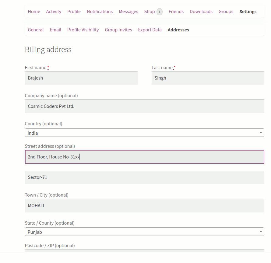 User edit address under settings(if configured) screenshot-4.png