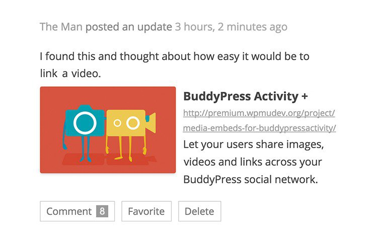 buddypress-activity-plus screenshot 2