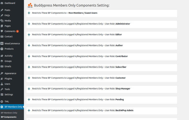 BuddyPress Members Only – WordPress plugin   WordPress org