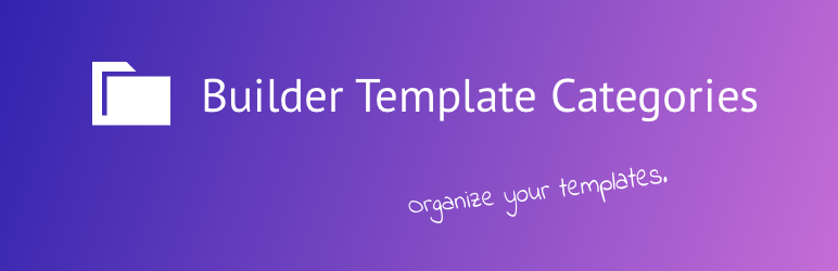 builder template categories for wordpress page builders