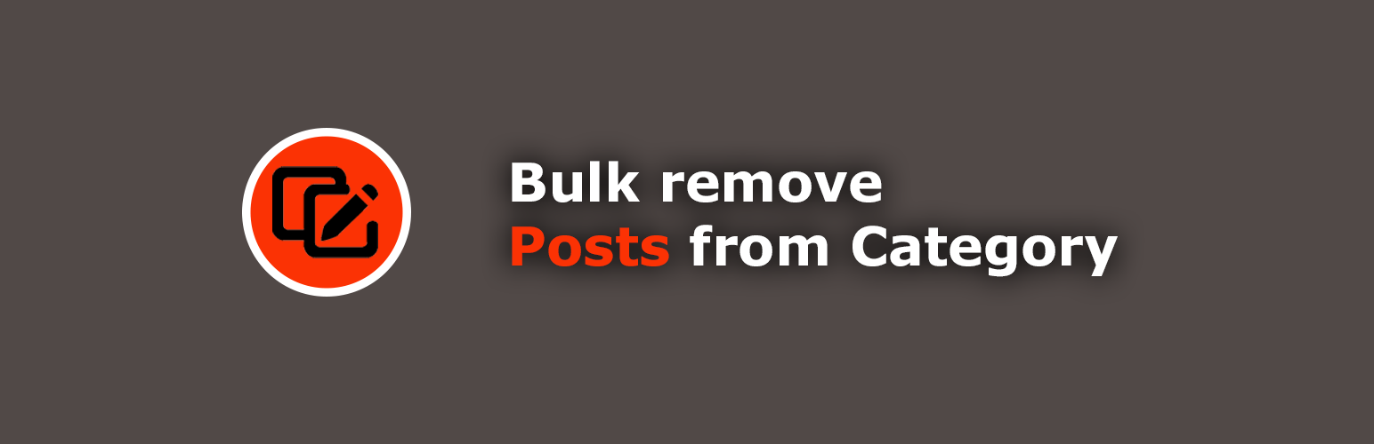 Bulk remove posts from category