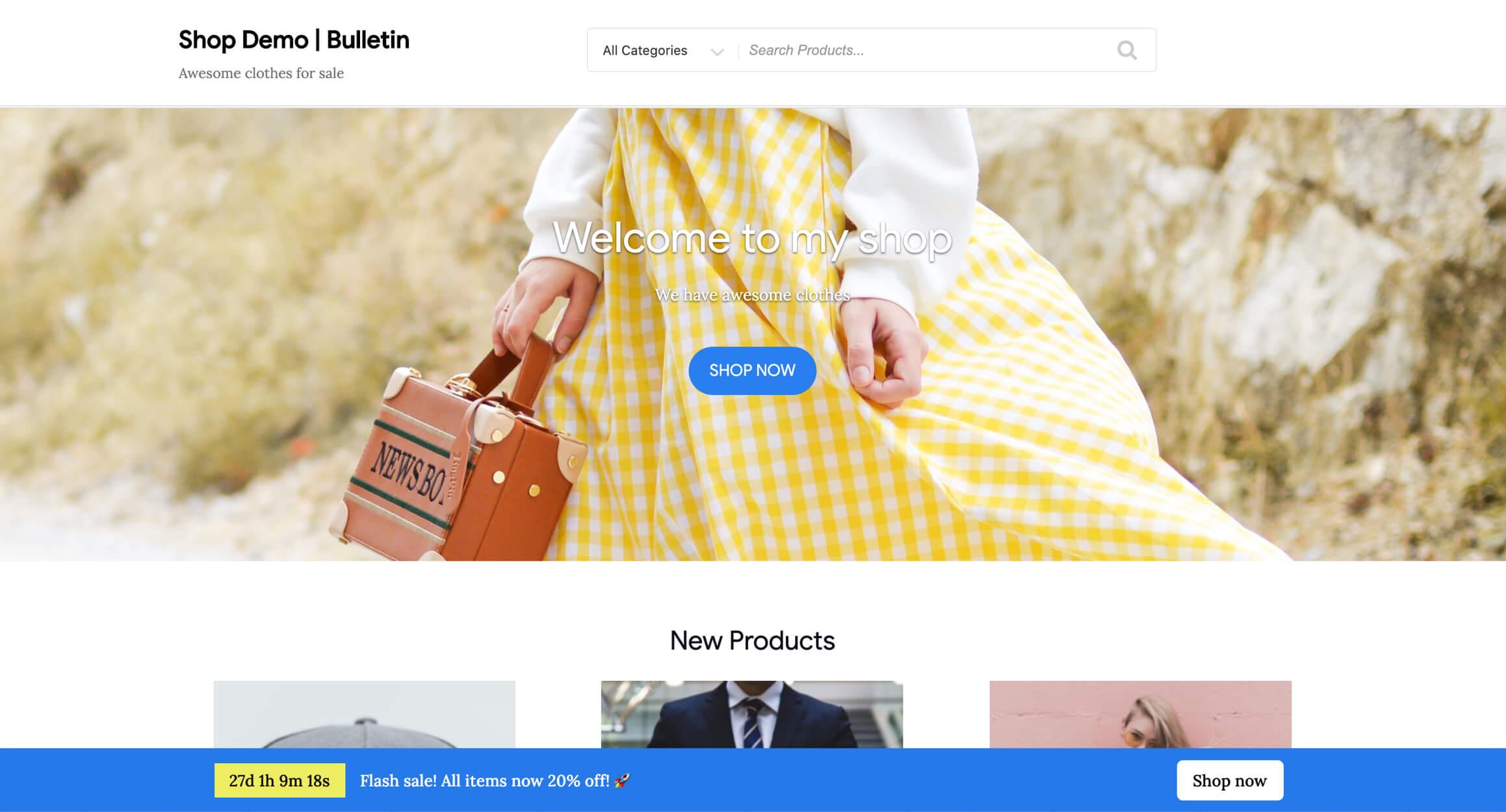 WordPress Announcement & Notification Banner Plugin – Bulletin