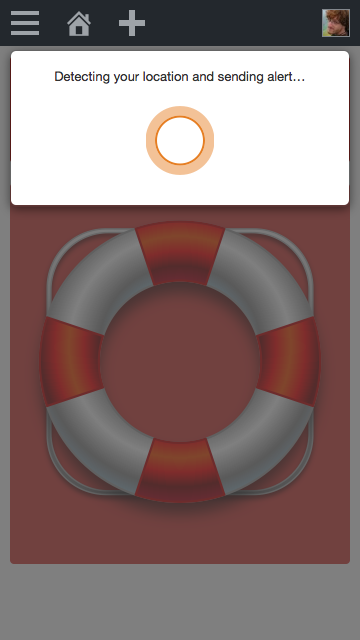 Screenshot showing Buoy alert
