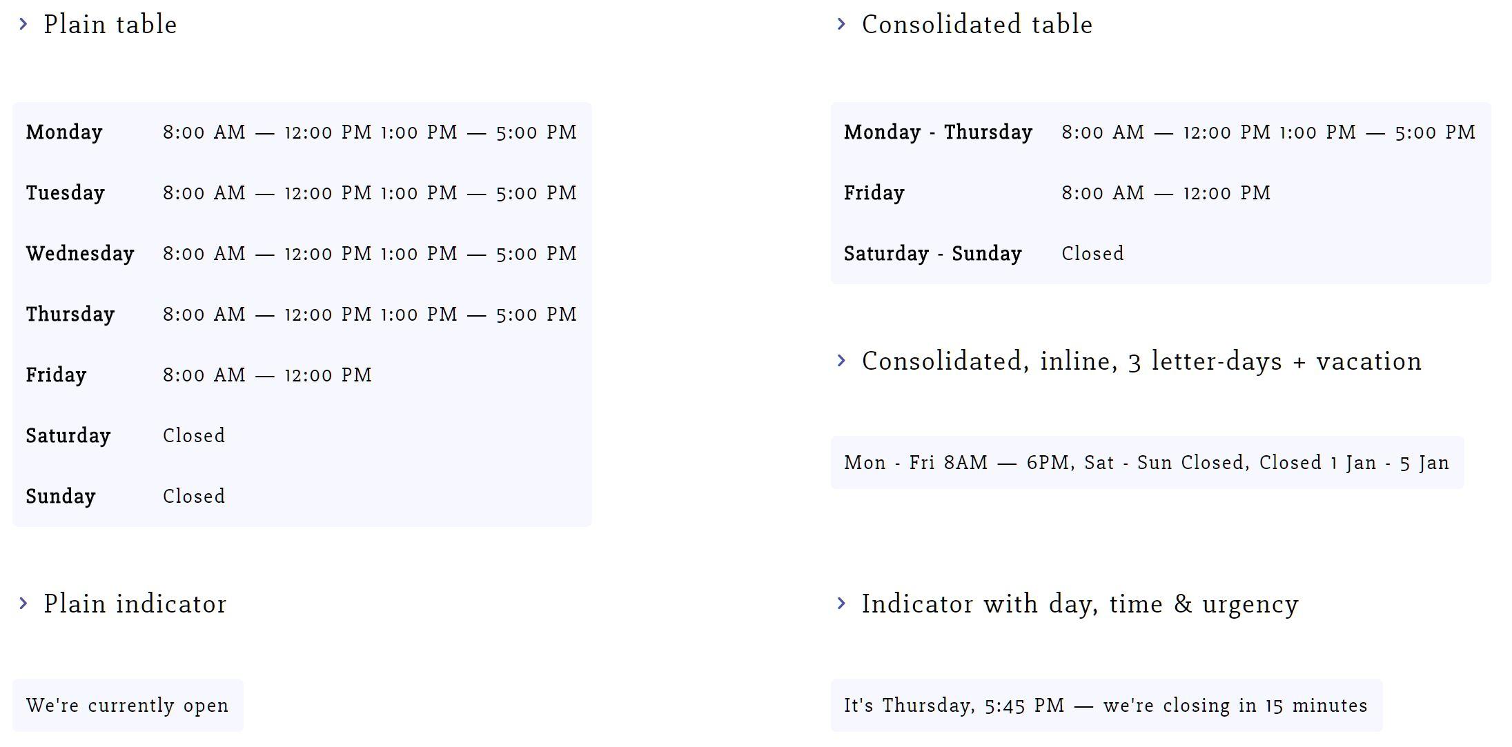 Business Hours Indicator – WordPress plugin | WordPress org