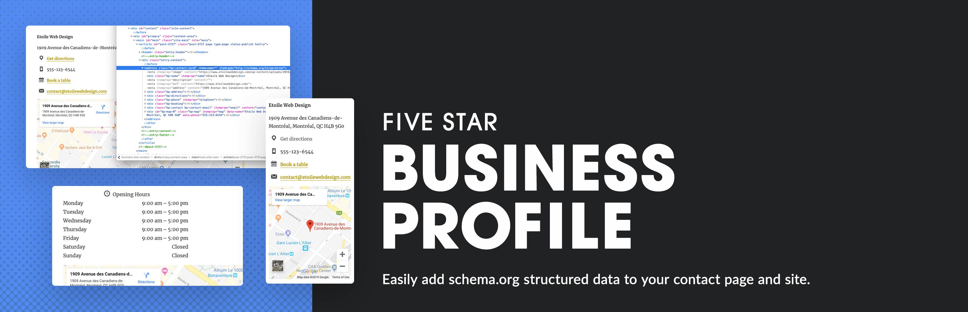 Five Star Business Profile and Schema