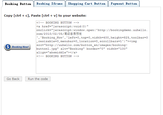 Button generator code