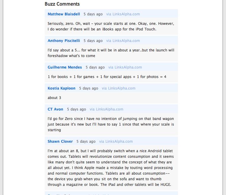 Google Buzz Comments