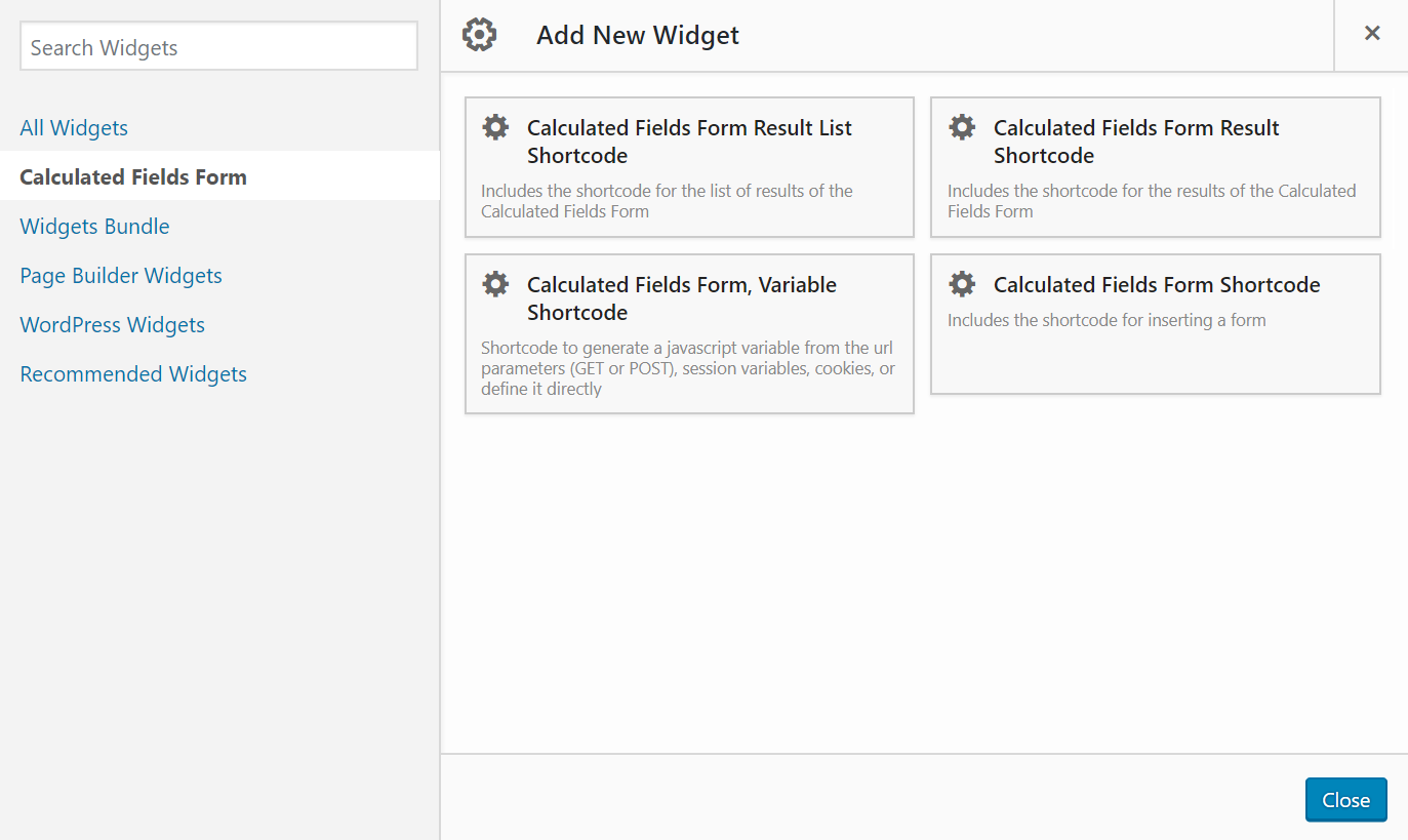 Calculated Fields Form – WordPress plugin | WordPress org