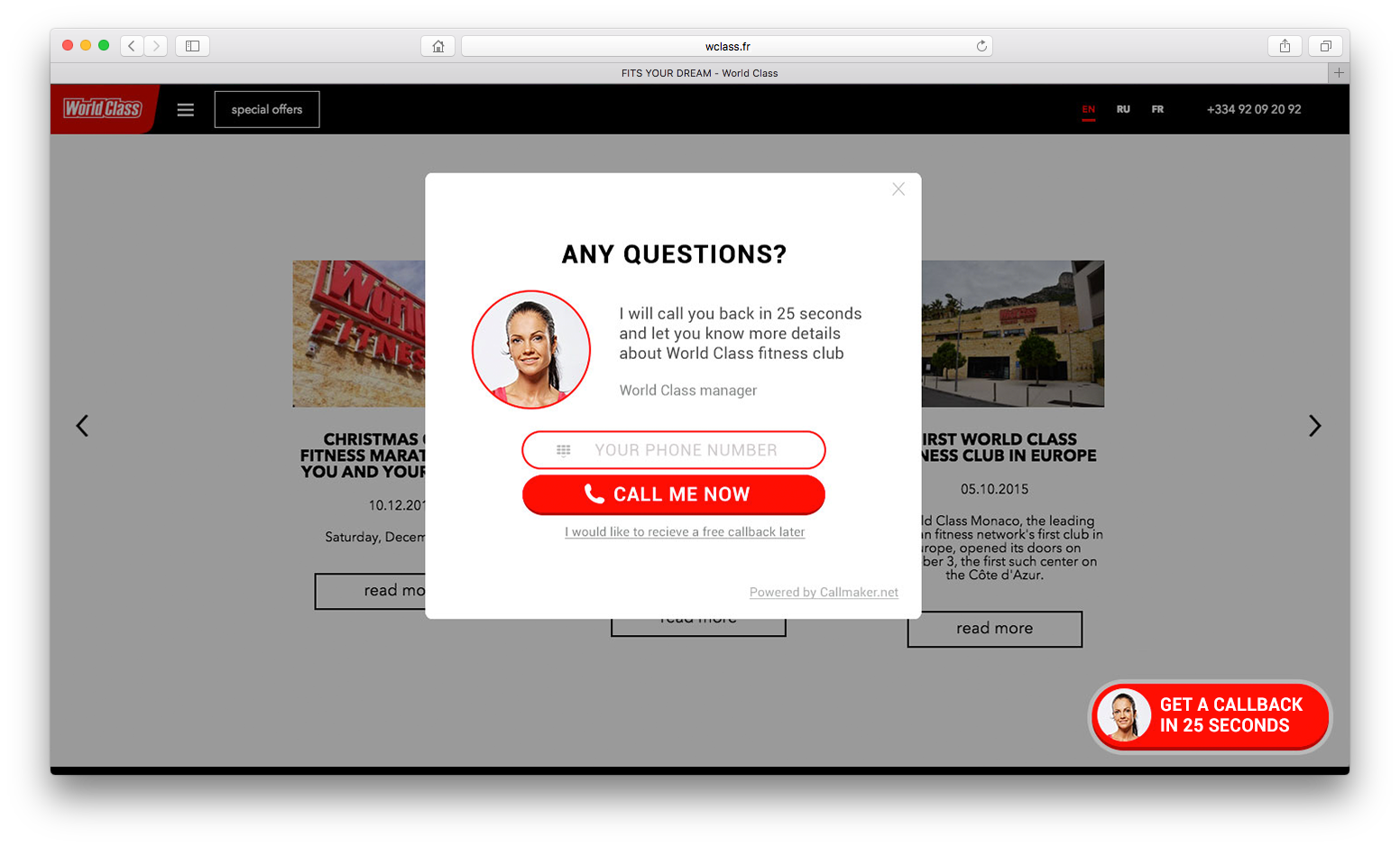 Increase conversion rate with callback pop-ups