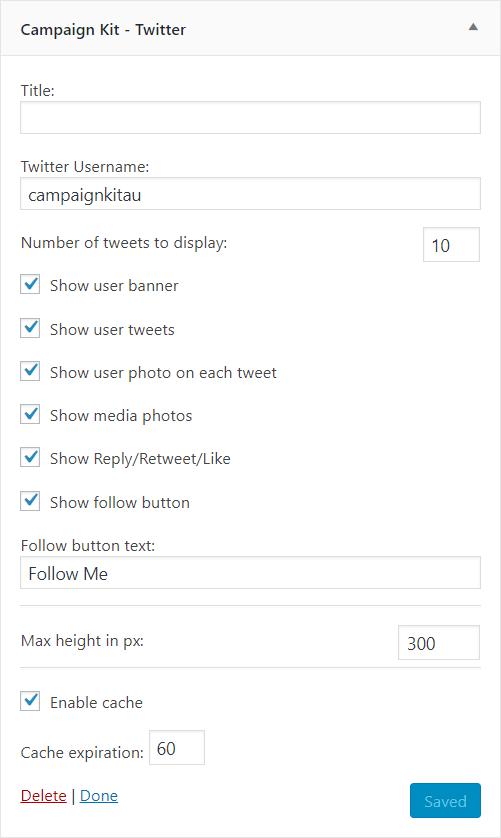 Campaign Kit - Twitter widget.