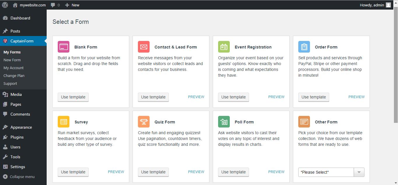 Forms by CaptainForm – Form Builder for WordPress — Plugins do ...