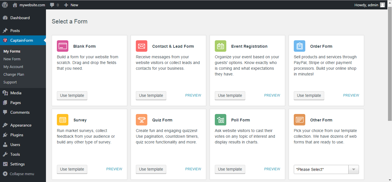 Forms by CaptainForm – Form Builder for WordPress – WordPress plugin