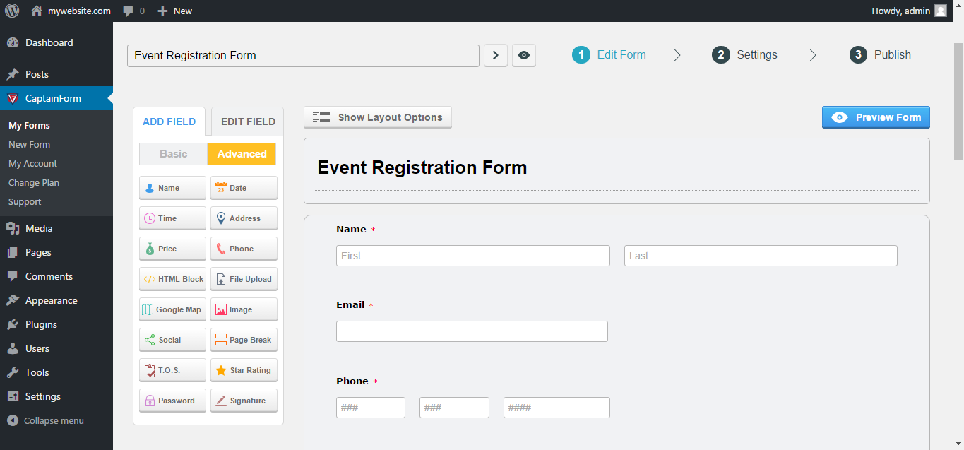 Forms By Captainform Form Builder For Wordpress Wordpress