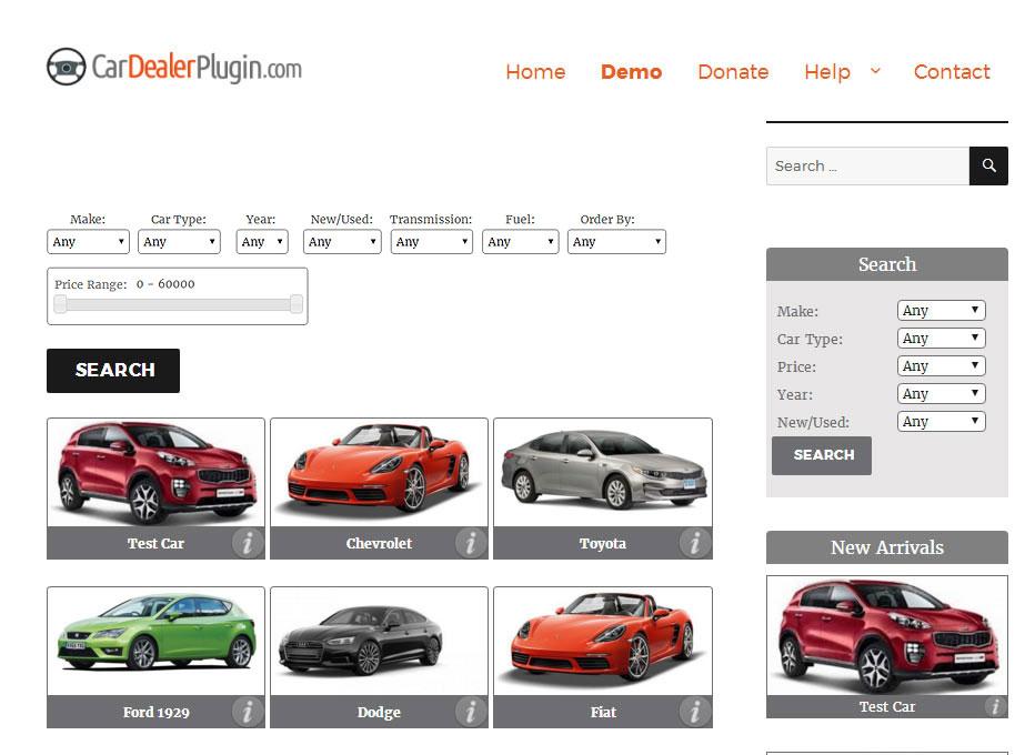 WordPress Car Dealer and Vehicle sales WordPress Plugin