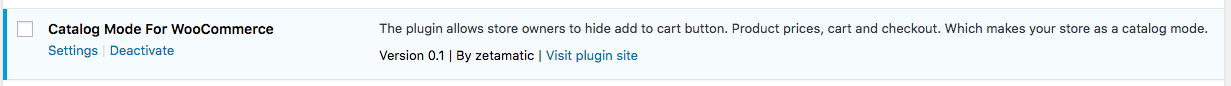 Plugin Activation.