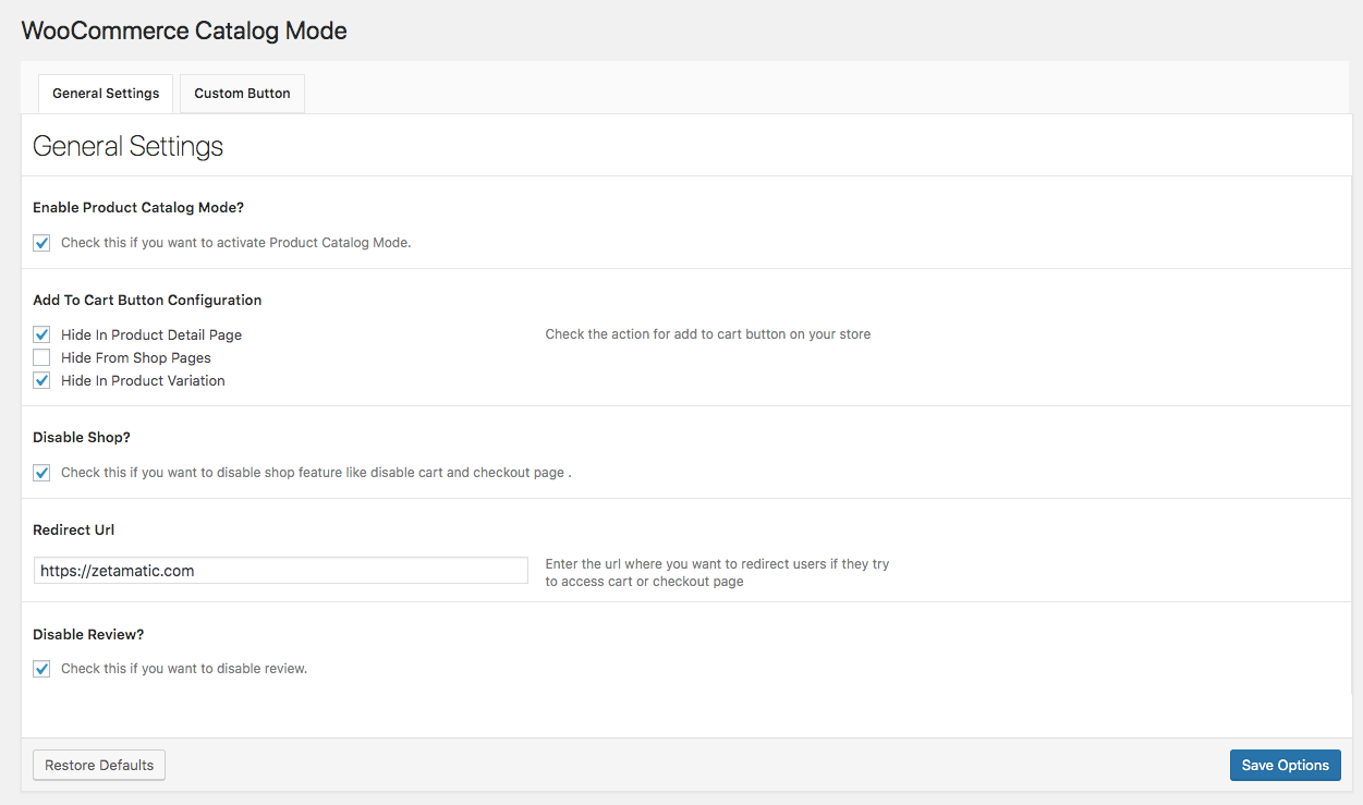 Plugin Catalog Settings.