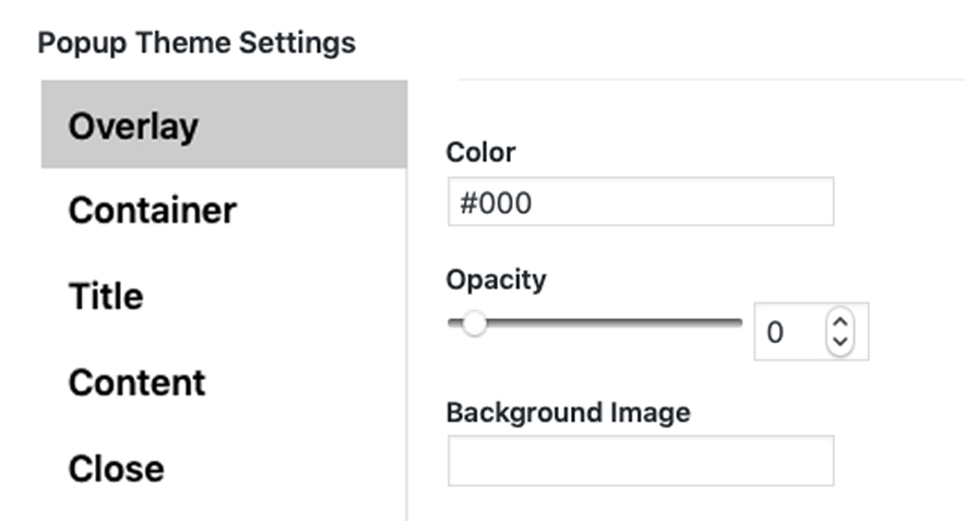 Catch popup display settings