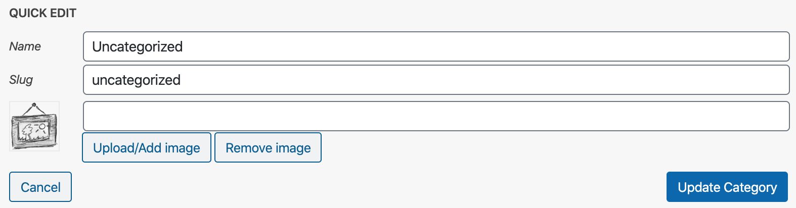 When you click the upload button the wordpress upload box will popup, upload or select image then press use this image.