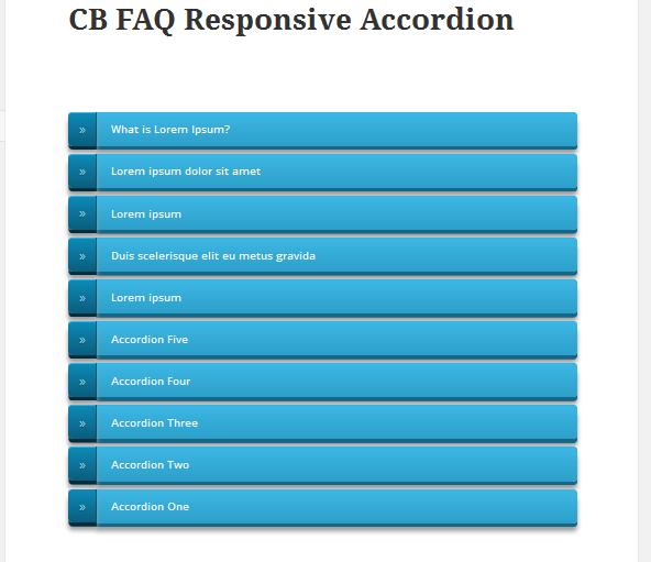 <p>Show 10 faq accordion style.</p>