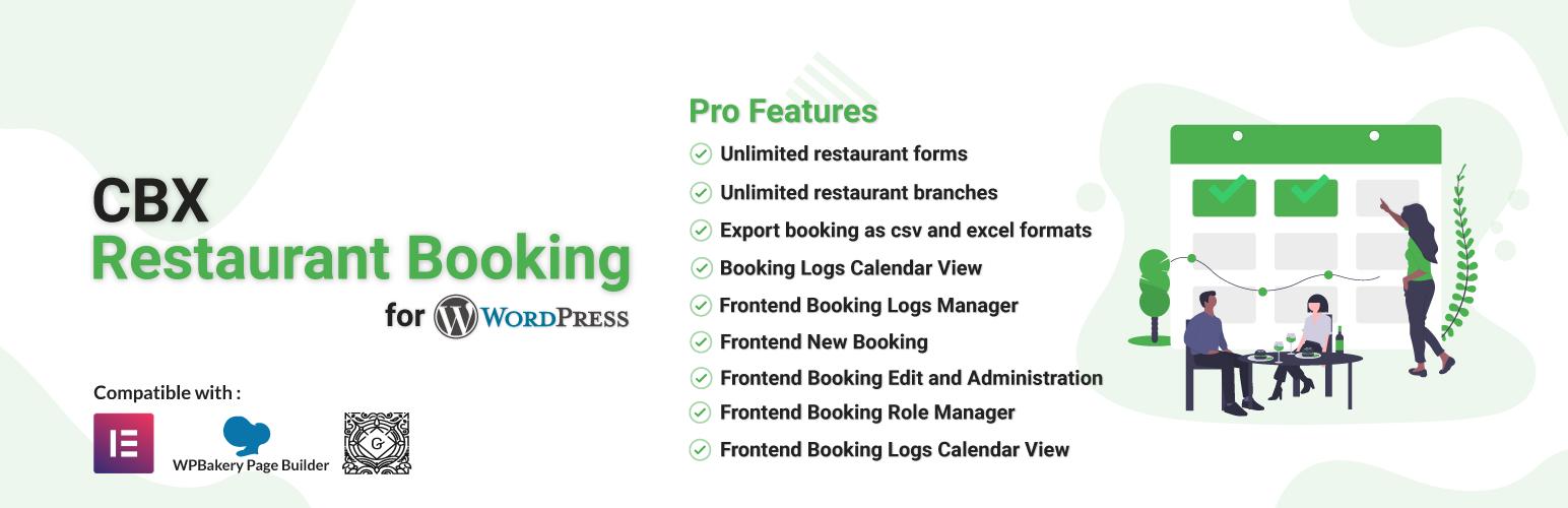 Cbx Restaurant Booking WordPress Plugin WordPress Org