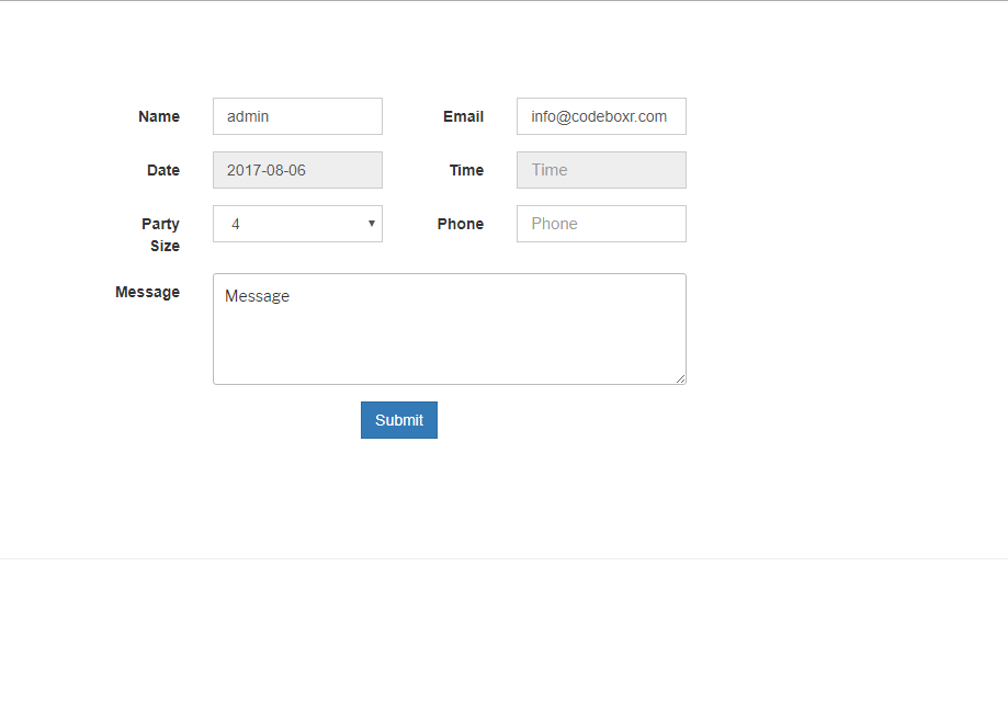 Form Frontend Preview