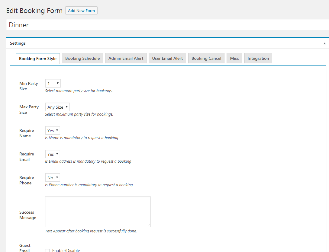 Form Setting-1-1(Booking Form Style)
