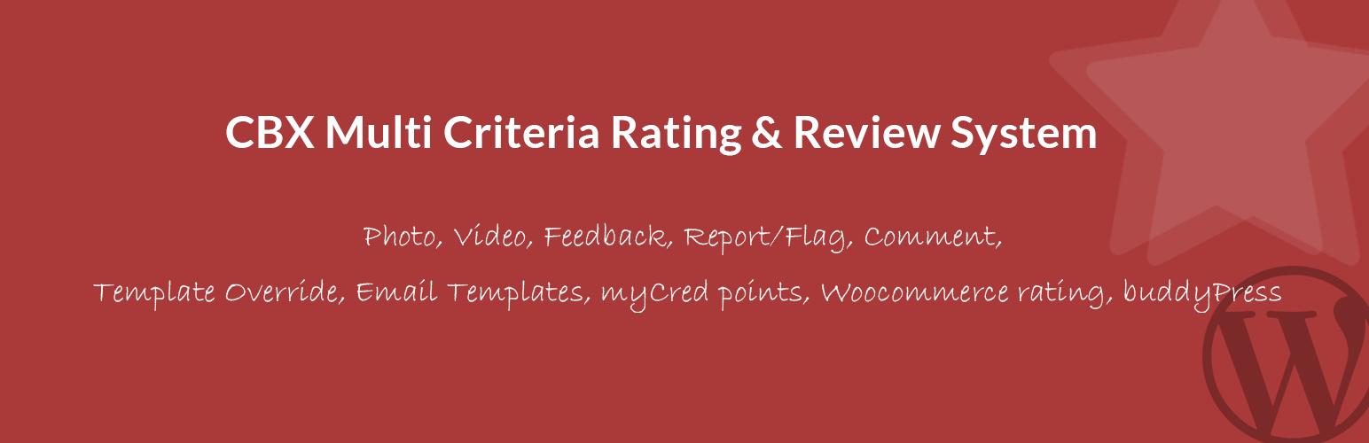 CBX Multi Criteria Rating & Review System