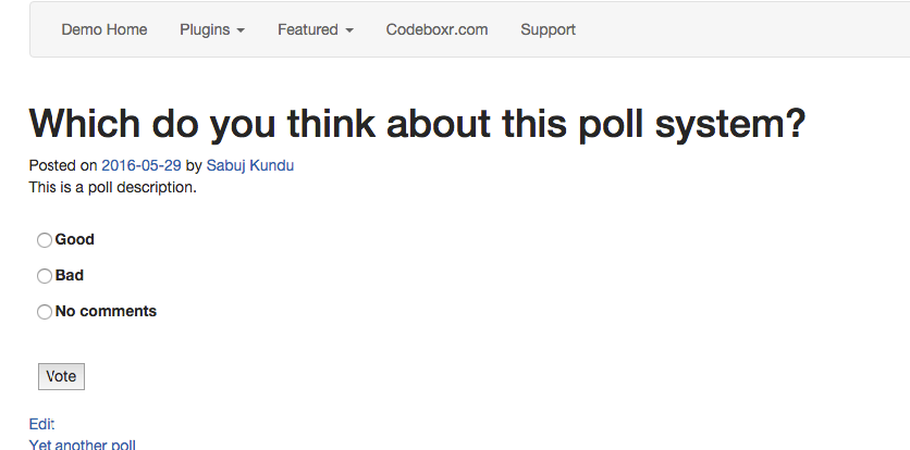 Poll type post frontend