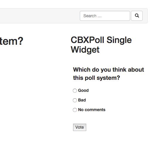 Poll inside a widget in frontend