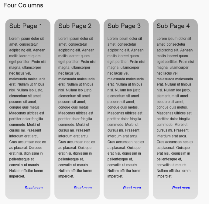 "Four columns: <code>[child_pages cols=""4""]</code>"