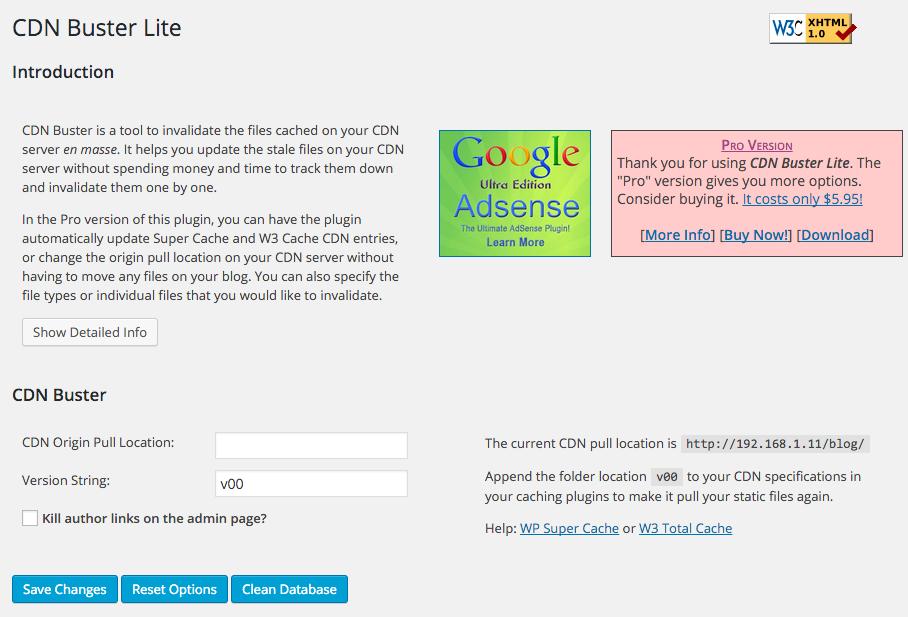 Invalidating entry url