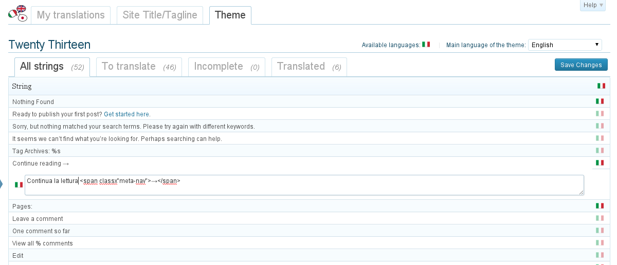 Translate your theme