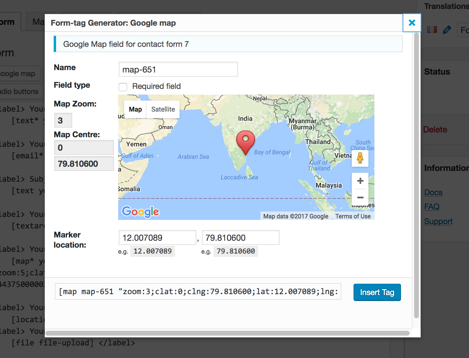 Google Map for Contact Form 7 WordPress Plugins