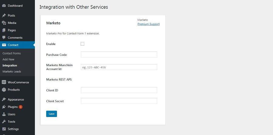 Marketo to REST API Setup Form