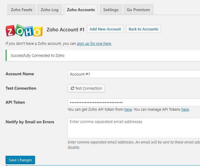 Contact Form 7 Zoho