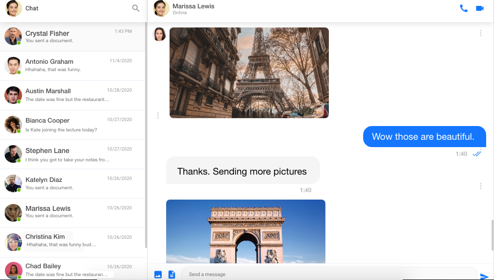 Full view of Channelize.io - Real-time Messaging and Video Calling